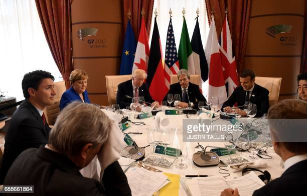 Italian Prime Minister Paolo Gentiloni French President Emmanuel Macron Japanese Prime Minister Shinzo Abe the President of the European Council...