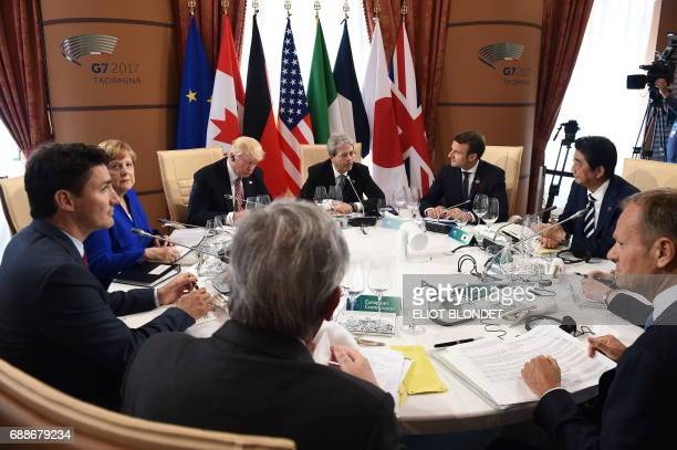 Italian Prime Minister Paolo Gentiloni French President Emmanuel Macron Japanese Prime Minister Shinzo Abe the President of the European Council...