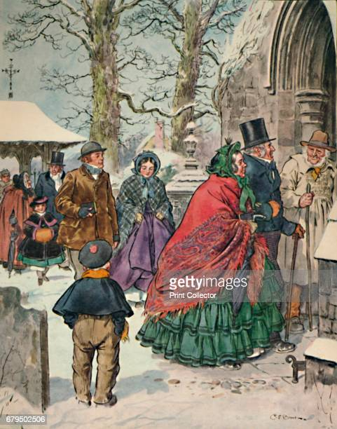 From 'Christmas' Alexander Smith's Essays 'Dreamthorp' 1862 Charles Edmund Brock was a widely published English painter line Artist and book...