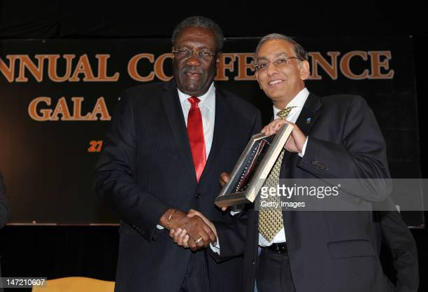 From Clive Lloyd and Chief Executive Haroon Largat appear at the ICC Gala Dinner convened during the ICC Annual Conference held at the ShangriLa...