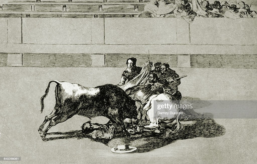 1816 From Goya's series 'Tauromaquia' on the art of bullfighting