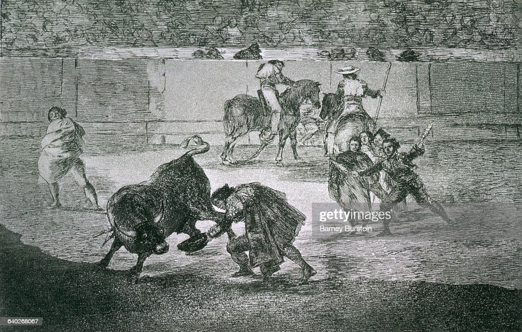 From Goya's series 'Tauromaquia' on the art of bullfighting|Medium Ink on paper|Creation date 1816