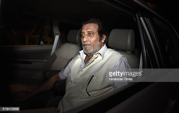 MP from Gurdaspur Vinod Khanna leaves AIIMS hospital after extending condolence to BJP veteran leader LK Advani on the death of his wife Kamala...
