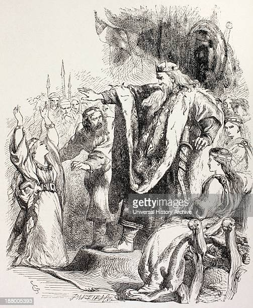 From King Lear By William Shakespeare Lear Believes Cordelia Does Not Love Him And Banishes Her From The Illustrated Library Shakspeare Published...