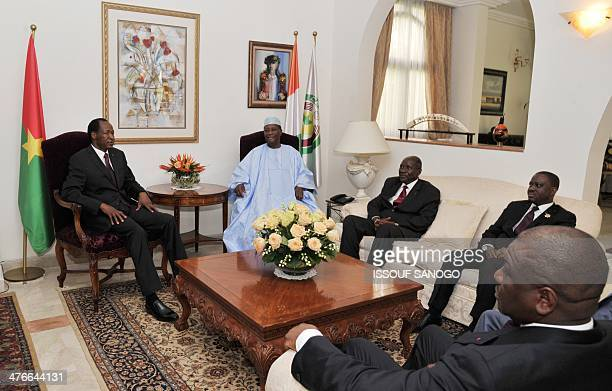 Burkina Faso president Blaise Compaore Ivory Coast president Alassane Ouattara Ivory Coast Prime Minister Daniel Kablan Duncan Ivory Coast National...