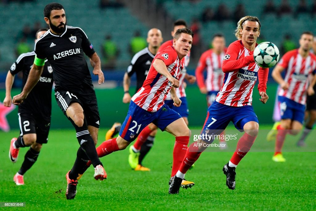 Qarabag FK v Atletico Madrid - UEFA Champions League