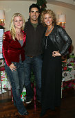 From L to R actors Alison Sweeney Galen Gering and McKenzie Westmore attend the Hallmark CelbriTree holiday open house benefiting 'Feeding America'...