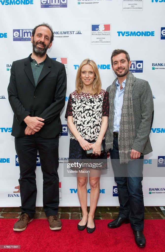 Alexandre Gavras, Lea Drucker and Xavier Legrand attend The Consul General Of France, Mr. Axel Cruau, Honors The French Nominees For The 86th Annual Academy Awards party on March 3, 2014 in Beverly Hills, California.