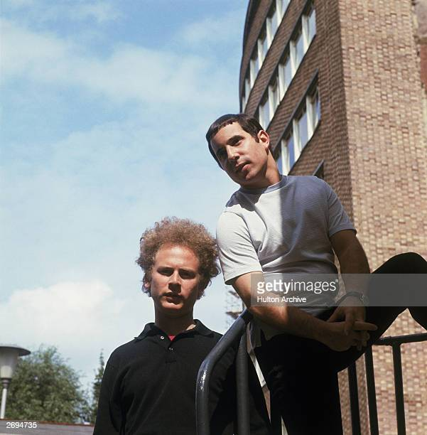 From l to r Art Garfunkel and Paul Simon Famous for their composition 'Bridge Over Troubled Waters'