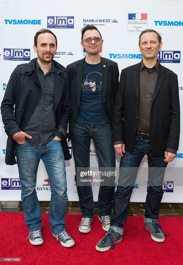 Benjamin Renner, Vincent Patar and Stphane Aubier attend The Consul General Of France, Mr. Axel Cruau, Honors The French Nominees For The 86th Annual Academy Awards party on March 3, 2014 in Beverly Hills, California.