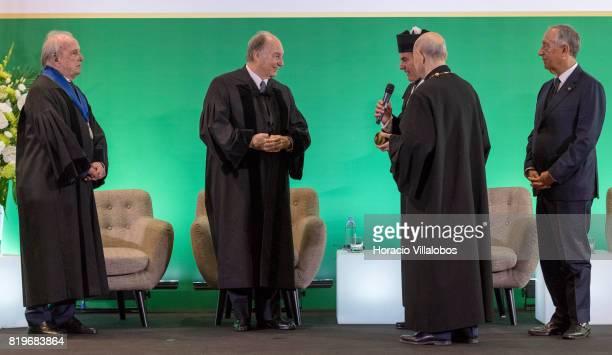 From L to R Former Portugal's Prime Minister Dr Francisco Pinto Balsemao His Highness Shah Karim alHussaini Prince Aga Khan Antonio Manuel Bensabat...