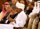 Kuwait's former foreign minister Sheikh Mohammed alSabah Lebanese former premier Fuad Siniora former Arab League chief Amr Mussa and Sudanese...