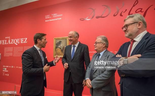 From L to R Museu Nacional de Arte Antiga director Antonio Filipe Pimentel Spanish Secretary of State for Culture Fernando Benzo Sainz Portuguese...
