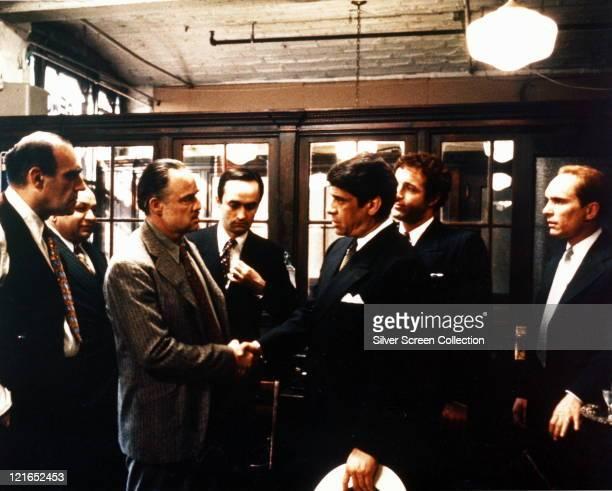 Abe Vigoda US actor Richard S Castellano US actor Marlon Brando US actor John Cazale US actor Al Lettieri US actor James Caan US actor and Robert...