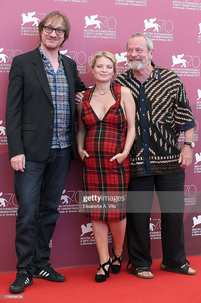From left, actor David Thewlis, actress Melanie Thierry and director Terry Gilliam attend 'The Zero Theorem' Photocall during the 70th Venice International Film Festival at the Palazzo del Casino on September 2, 2013 in Venice, Italy.