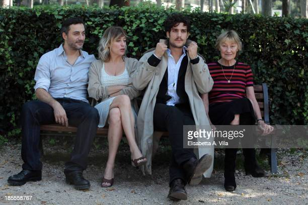 From left actor Filippo Timi director Valeria Bruni Tedeschi actor Louis Garrel and actress Marisa Borini attend 'Un Castello In Italia' Rome...