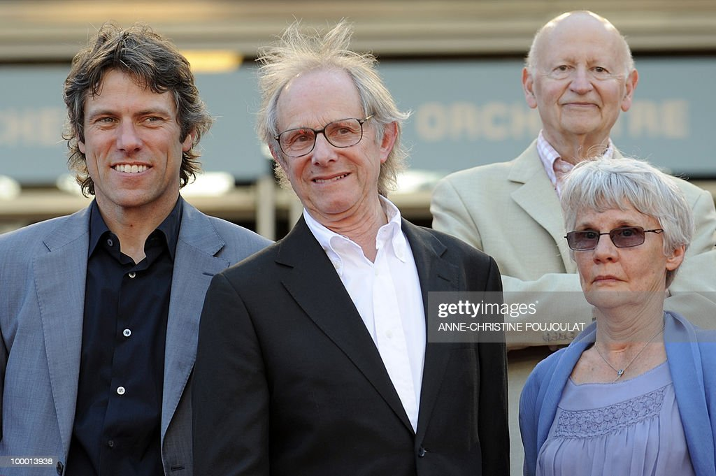 actor John Bishop, British director Ken Loach and his wife Lesley Ashton, arrive for the screening of 'Route Irish' presented in competition at the 63rd Cannes Film Festival on May 20, 2010 in Cannes. Top right : Cannes Film Festival President Gilles Jacob.