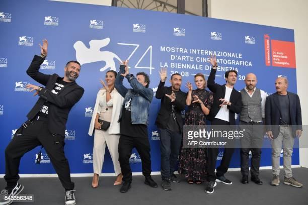actors Luca Tommassini Serena Rossi directors Marco Manetti Antonio Manetti actres Claudia Gerini Giampaolo Morelli Raiz and Carlo Buccirosso attend...