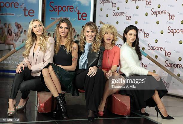 From left actresses Martina Stella Virginie Marsan Serena Autieri Nancy Brilli and Katy Saunders attend 'Sapore Di Te' photocall at Cinema Adriano on...