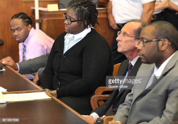 From left Alexander Gallett Yamiley Mathurin her attorney Steven Sack and Michel St Jean listen as Gallett Mathurin and St Jean are sentenced in the...