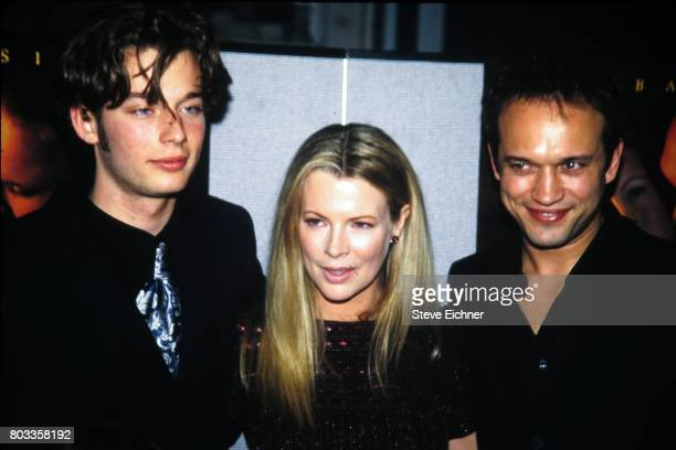 From left American actors Garrett Strommen Kim Basinger and Swiss actor Vincent Perez attend the premiere of their film 'I Dreamed of Africa' New...