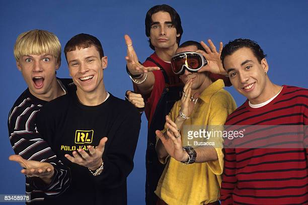 Nick Canon Brian Littrell Kevin Richardson AJ McLean and Howie Dorough of the Backstreet Boys attend a 1997 photo shoot in New York