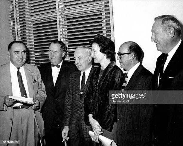 From left are Charles Vigil Walter Emery Frank L Tettemer Mrs Howard Rea King Shwayder and Lud Rettig They announced their plans at a meeting on...