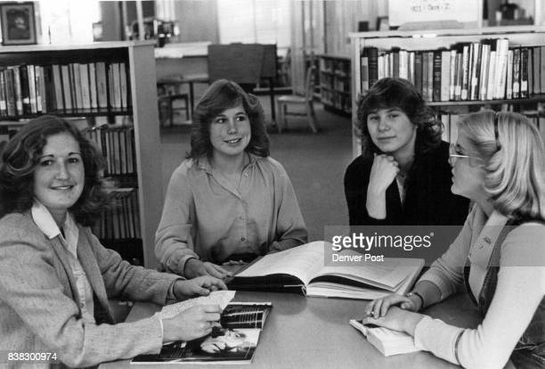 From left are Karen Ellis and Sharon Beilby from Sutherland Shire New South Wales Australia Next are Kathleen Hooper and Mariam Nations Alameda High...