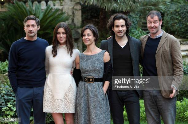 From left Benjamin Sadler Vittoria Puccini Carlotta Natoli Santiago Cabrera and Pietro Sermonti attend 'Anna Karenina' fiction TV photocall at Hotel...
