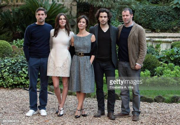 From left Benjamin Sadler Vittoria Puccini Carlotta Natoli Santiago Cabrera and Pietro Sermonti attend 'Anna Karenina' fiction TV photocall at Hotel...