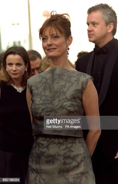 British actress Emily Watson US actress Susan Sarandon and US director Tim Robbins at the Palais des festivals in Cannes before the screening of...