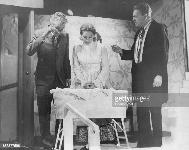 OF 'THE MIRACLE WORKERS' From left Carl Keiser and Theresa Orwig as Mr and Mrs Keller and Jim Murphy portraying the doctor Performances are scheduled...