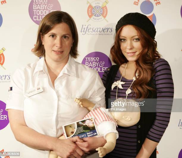 From left Dr Hannah Shore from the Royal Life Saving Society and Natasha Hamilton former Atomic Kitten and celebrity mum today launched the Tesco...