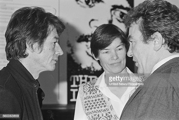 From left English actors John Hurt Glenda Jackson and Albert Finney pictured together at the press launch of the production company United British...