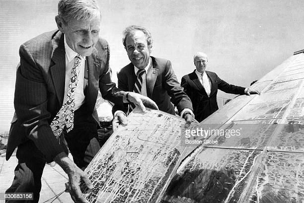 From left Francis W Hatch president of the Isabella Stewart Gardner Museum William Provo a trustee and Jack Gardner a trustee and descendant of...