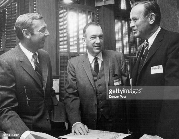 From left Frank H Peirson president of Hamilton Management Corp Denver John H Kostmayer chairman of HMC and Robert M Kirchner a director of Hamilton...