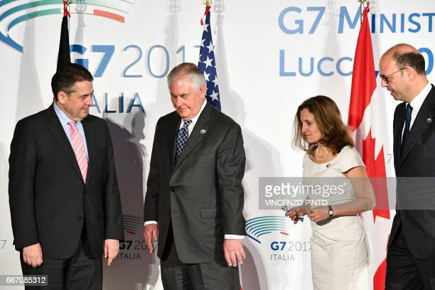 German Foreign Minister Sigmar Gabriel US Secretary of State Rex Tillerson Canadian Foreign Minister Chrystia Freeland and Italy Foreign Minister...