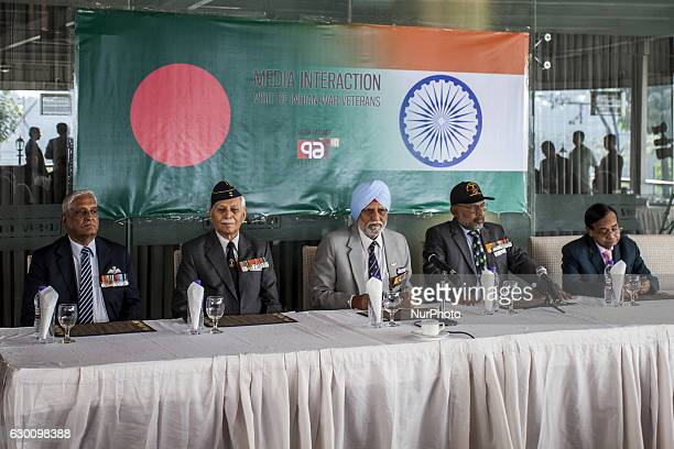 From left hand side the veterans are Gp Capt Hemant Sardesai rank Flt Lt Brig Bhanot Madan Mohan rank Maj / Bde Maj Lt Gen G S Sihota rank Capt / Air...