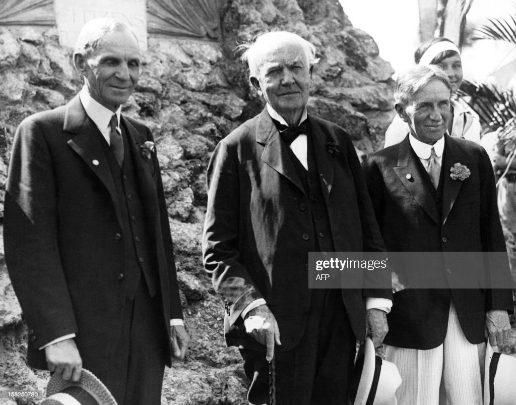 <a gi-track='captionPersonalityLinkClicked' href=/galleries/search?phrase=Henry+Ford+-+Founder+of+Ford+Motor+Company&family=editorial&specificpeople=94471 ng-click='$event.stopPropagation()'>Henry Ford</a>, founder of the huge US motor dynasty, Thomas Alva Edison, a pioneer in the field of the electricity, and Harvey Firestone, founder of a huge US tyre empire, the 'Big three' of the US industry and intimate friends, are shown together in 1930 at Fort Myers, Fla, as Ford and Firestone visited Edison on his 83rd birthday. N