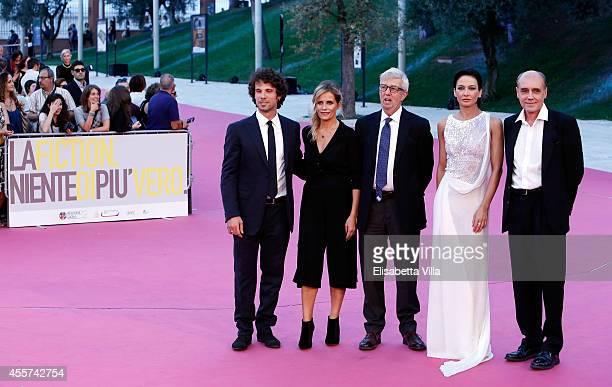 From left Italia Giury members Francesco Montanari Isabella Ferrari Alberto Sironi Giovanna Di Rauso and Pasquale Pozzessere attend Roma Fiction Fest...