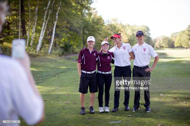 From left Jacob Laplume Jordan Laplume Elizabeth Lacognata and Anthony Burnham pose for a photo together before the start of SMAA Championship at...