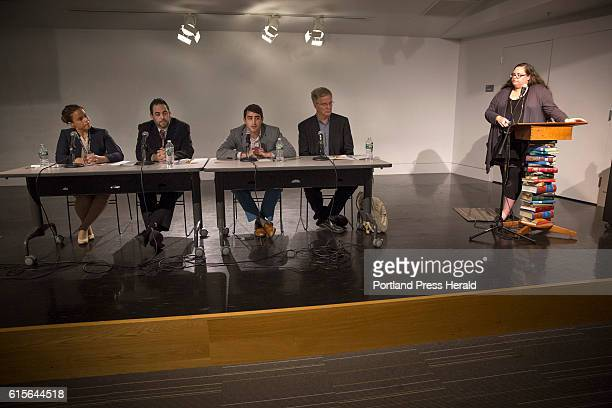 From left Jennifer Ackerman Deputy District Attorney for Cumberland County Scott Gagnon of Smart Approaches to Marijuana Maine David Boyer of Yes on...
