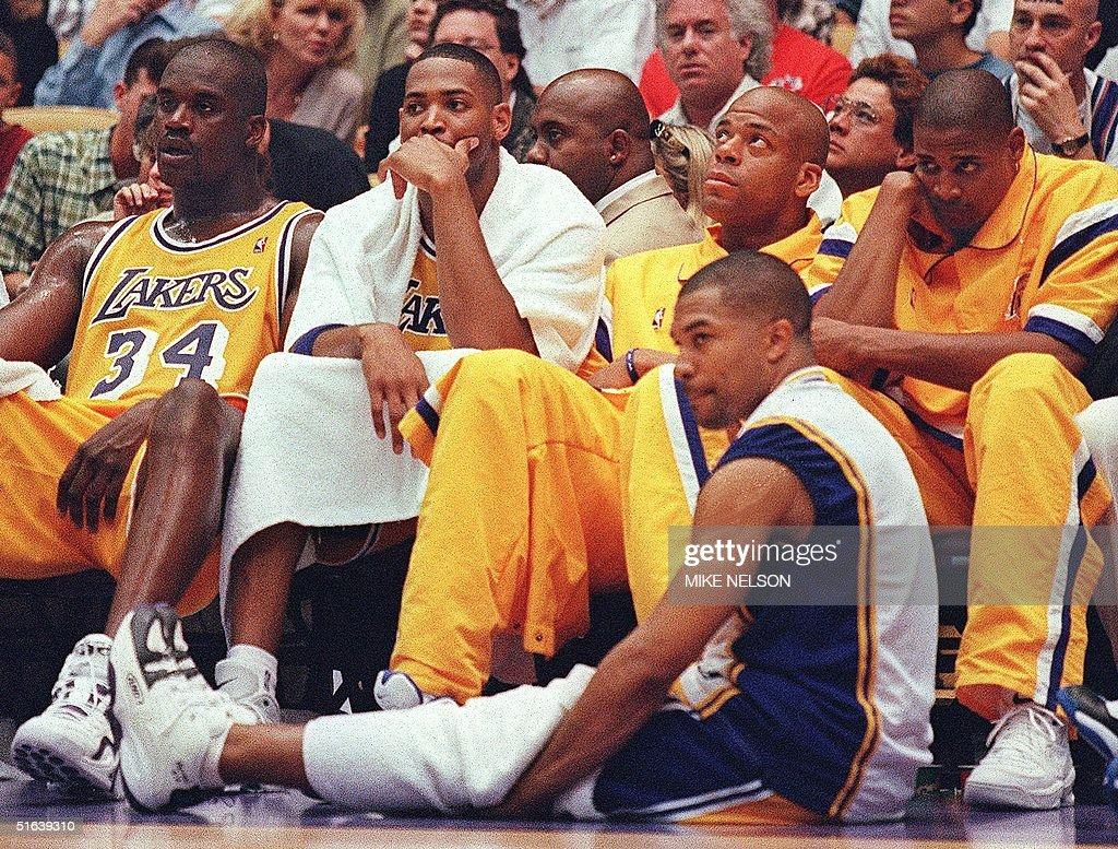 From left Los Angeles Lakers Shaquille O Neal Ro