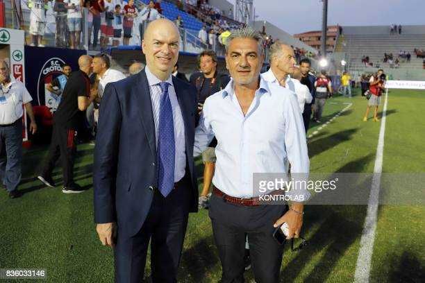From left Marco Fasson Managing Director of Milan and Gianni Vrenna President of Crotone during the Serie A match between FC Crotone and AC Milan...