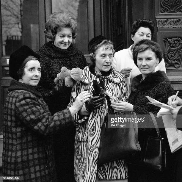 From left Margaret McKay Renee Short Joyce Butler Anne Kerr and Gwyneth Dunwoody outside the Home Office they were there to see Alice Bacon Minister...