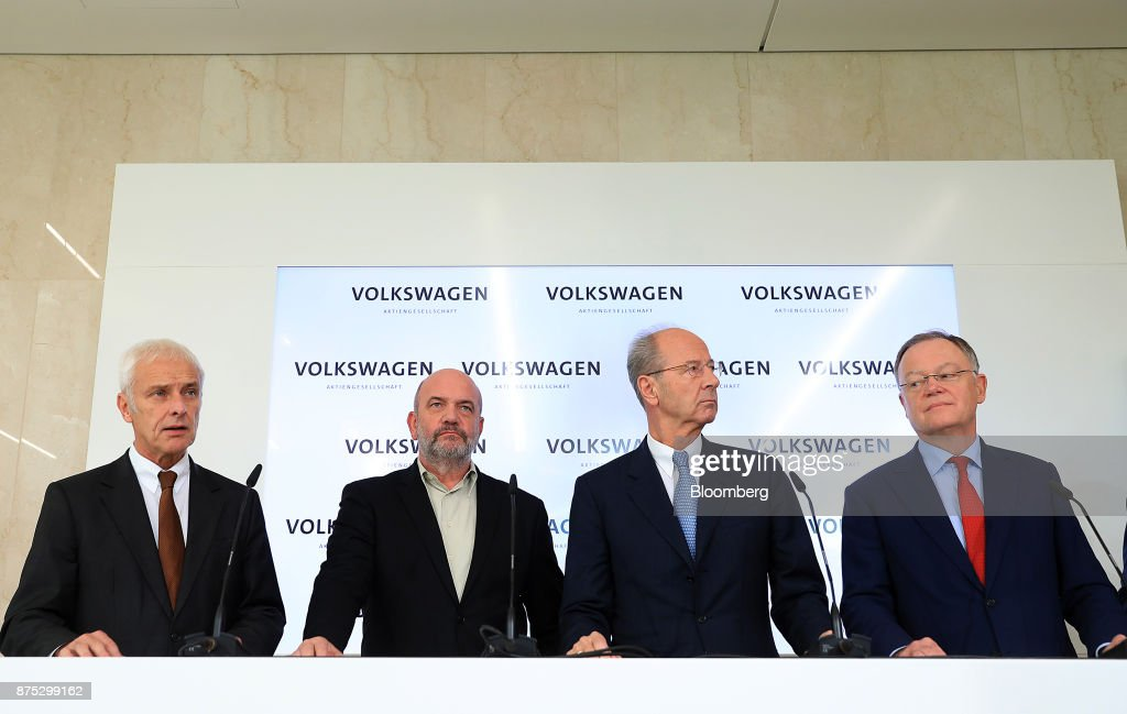 Volkswagen AG CEO Matthias Mueller And Executive Board Members Hold News Conference