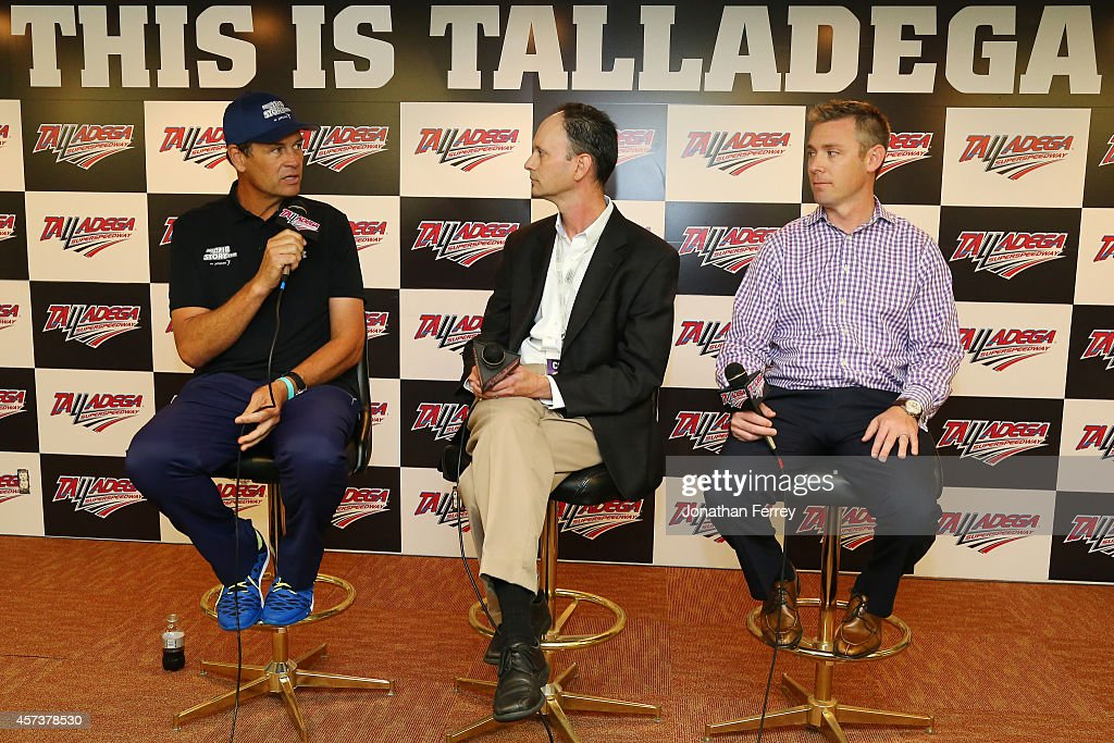 From left Michael Waltrip driver of the MyAFibStorycom Toyota Dr Patrick Ellinor American Heart Association and Gregg Ruppersberger of Janssen...