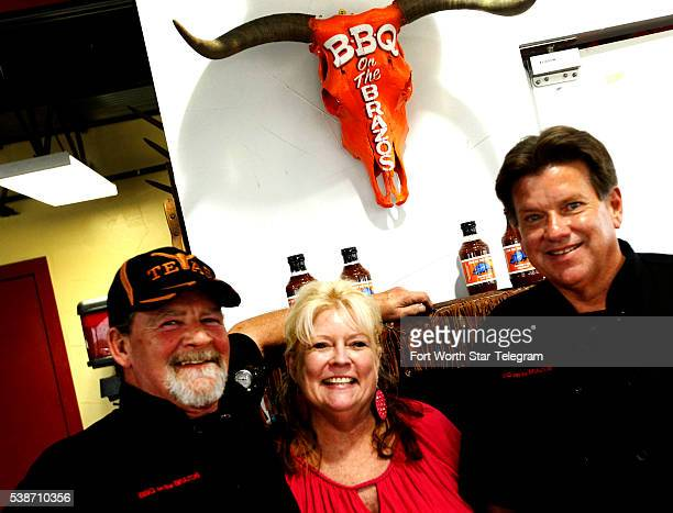 Owners John and wife Kathryn Sanford and Michael Warren at BBQ on the Brazos in Cresson Texas in 2013