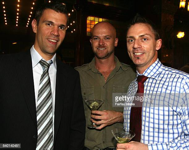 From left Paul Caddy Brett Ryan and Ben Naughtin at An Evening with the Designers at the Strand Arcade Sydney 18 October 2006 SHD Picture by JANIE...