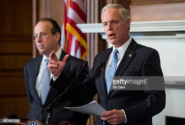 From left Paul Clement former United States Solicitor General and Sen Ron Johnson RWisc hold their news conference on Monday Jan 6 to announce...